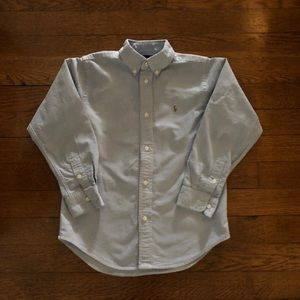 Blue Ralph Lauren button down shirt